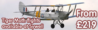 Tiger Moth flights available at Sywell