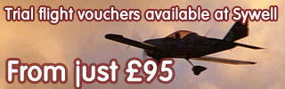 Trial flight vouchers available at Sywell